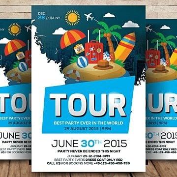 business tour flyer Шаблон