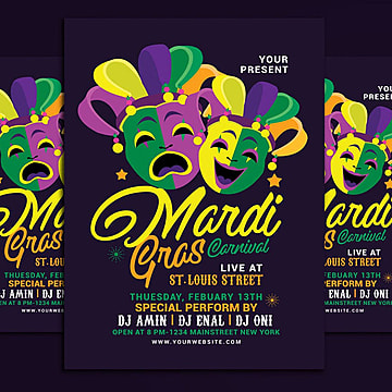 carnival flyer template free
