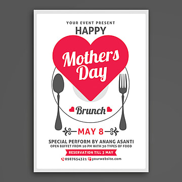 Mothers Day Brunch, Child, Church, Church Template PNG and PSD
