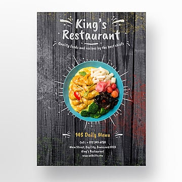 restaurant flyer template Template