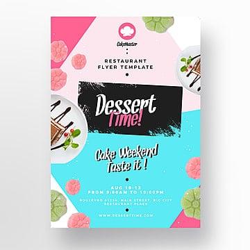 dessert restaurant  flyer template Template