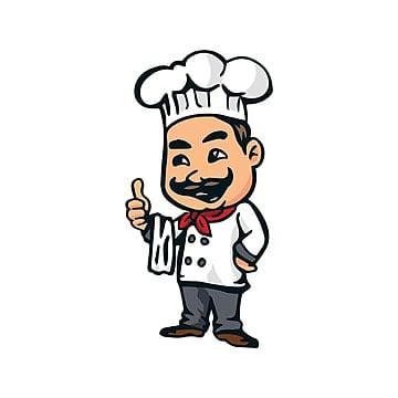 modern italian cuisine pasta chef logo Template