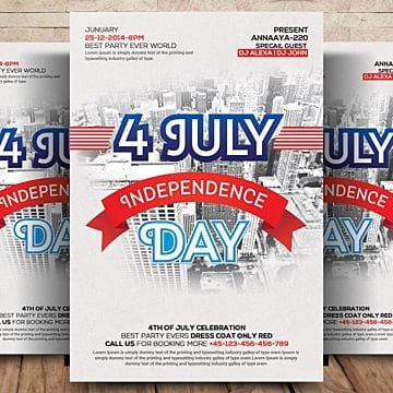 4th of July  American independence day USA independence day Flyer Template, 4th Of July, American Flag, Usa Independence Day PNG and PSD