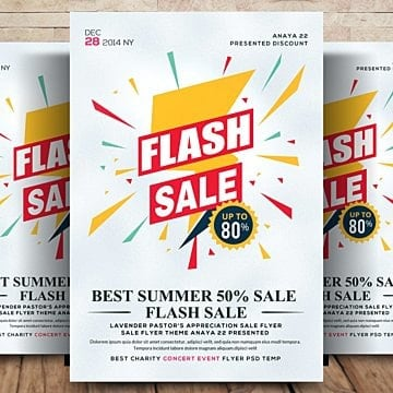 sale promotional flyer templates 4 design templates for free download
