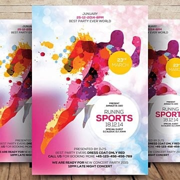 sports flyer template Template
