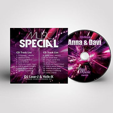 famous music cd cover Template