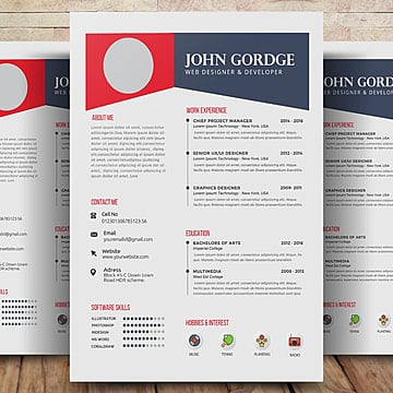 Resume Psd 393 Photoshop Graphic Resources For Free Download