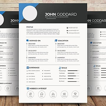 Resume Psd 369 Photoshop Graphic Resources For Free Download