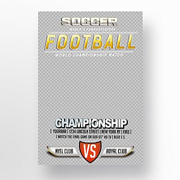 football championship flyer Template
