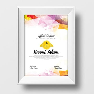 Vertical Certificate Templates 5 Design Templates For Free Download