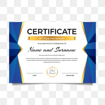 Certificate Of Achievement PNG Images | Vector and PSD ...