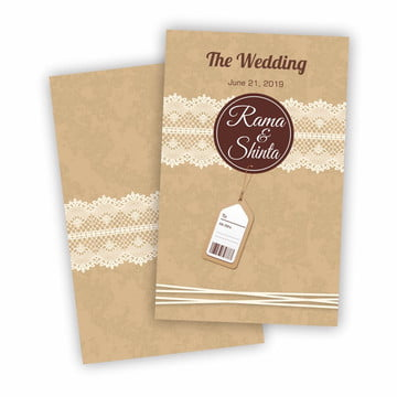Rustic Craft Wedding PNG And Vector