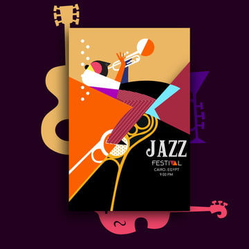 jazz festival music poster Template