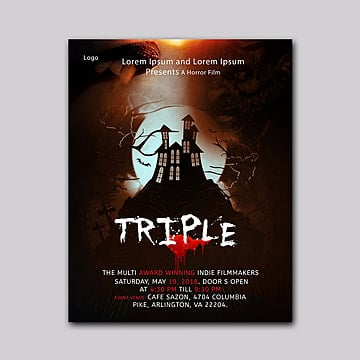 Horror Movie Poster PNG And Vector