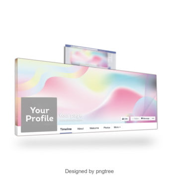 Fashion abstract facebook banner with gradients effect, Facebook Cover, Cover, Abstract Cover PNG and Vector