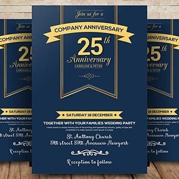 Aniversario Invitación Descarga Gratuita De Plantilla En Pngtree