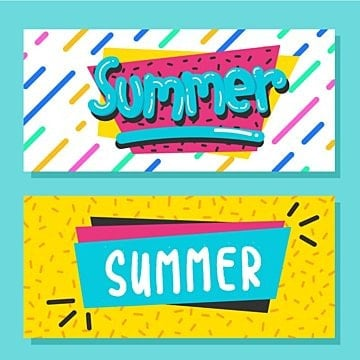 summer with memphis style Template