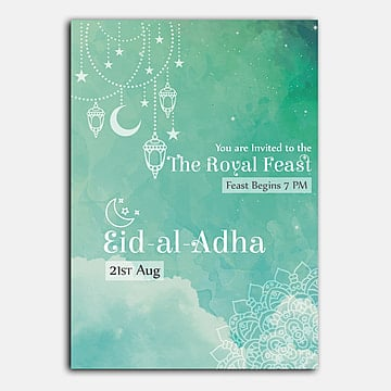 eid al adha invitation Template