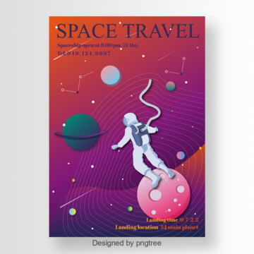 space travel in the universe poster Template