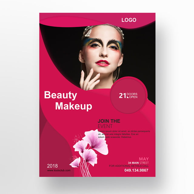 Beauty Makeup Flyer Template For Free Download On Pngtree