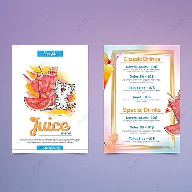 100 natural juice menu design template for free download on pngtree