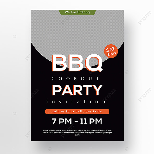 bbq party poster design Template for Free Download on Pngtree