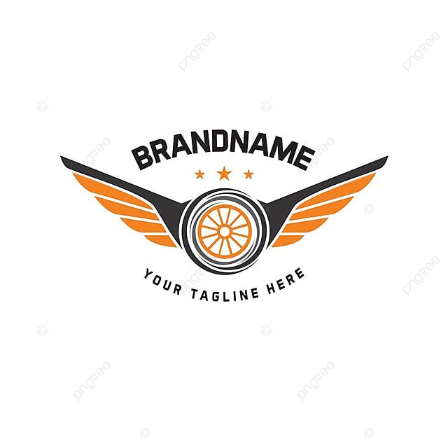 Car Wheel Logo Template Vector Design Vintage Style Auto Tire Logo
