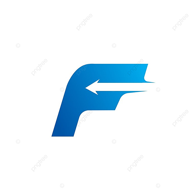 letter f with arrow logo design template template for free download