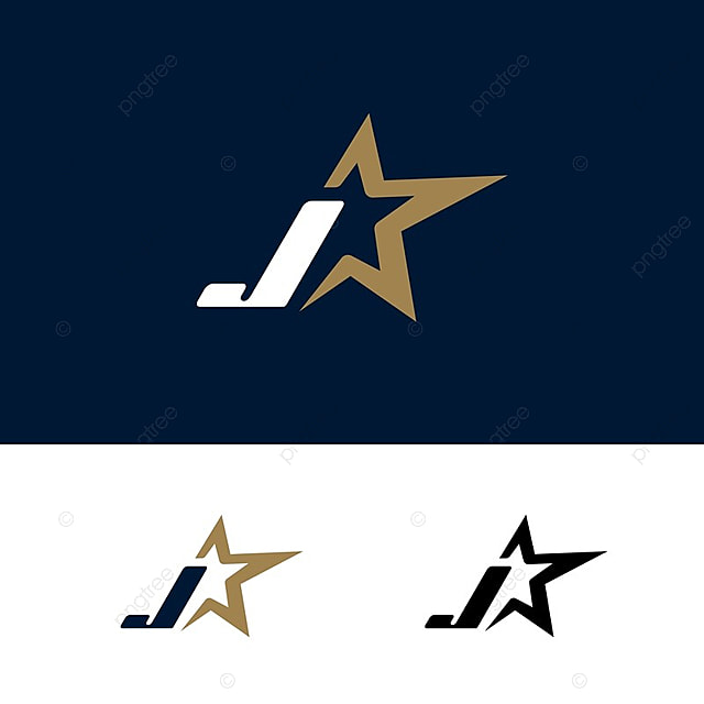 Letter J Logo Template With Star Design Element Vector Illustration