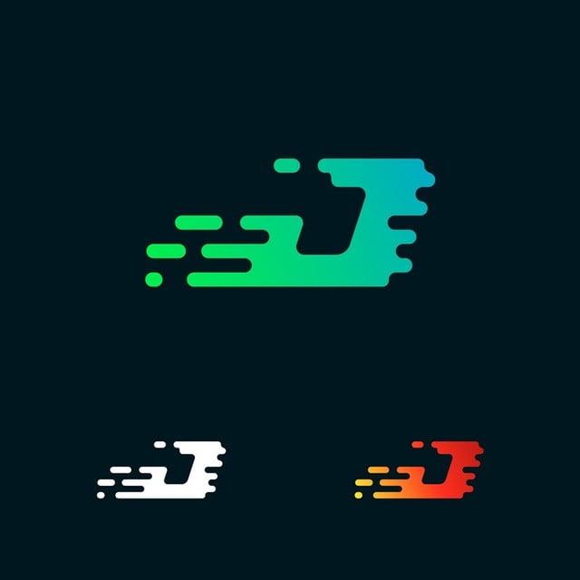 Letter J Modern Speed Shapes Logo Design Vector Template For Free