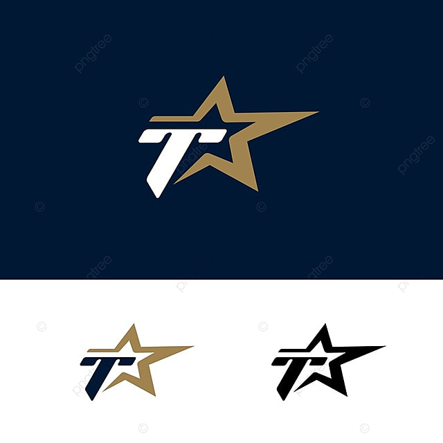 letter t logo template with star design element vector illustration corporate branding identity template