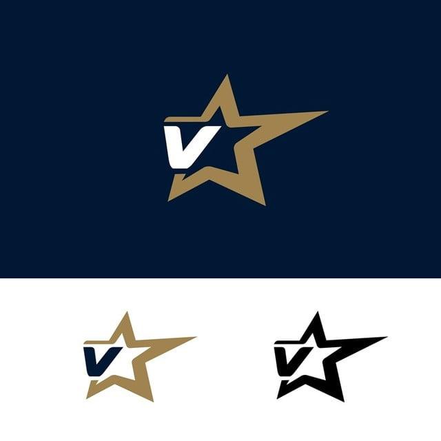 pngtreeにletter v logo template with star design element vector