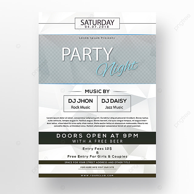 saturday night club party poster Template for Free Download on Pngtree