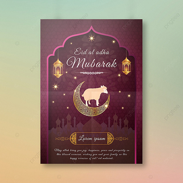Eid Al Adha Festival Poster Template for Free Download on ... |Eid Festival Poster