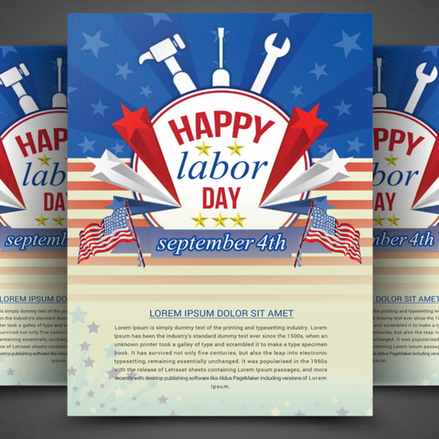 Labor Day Flyer Template For Free Download On Pngtree
