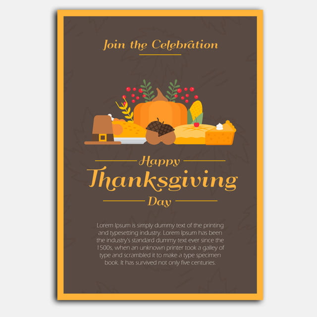 thanksgiving poster2 template