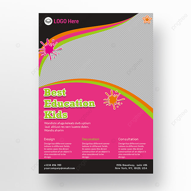 education flyer template for free download on pngtree