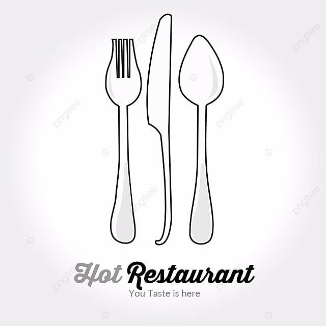 fork knife logo template for free download on pngtree