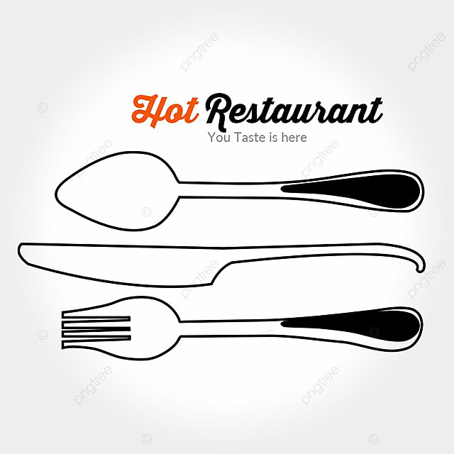 spoon knife restaurant logo template for free download on pngtree