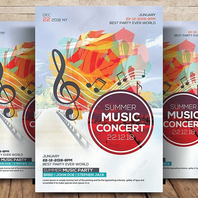 Electro Dance Music Concert Flyer Template for Free Download