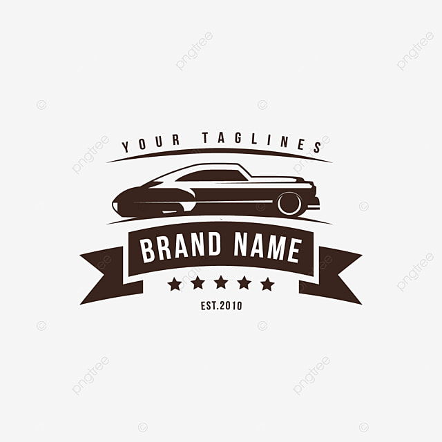 A Template Of Classic Or Vintage Or Retro Car Logo Design