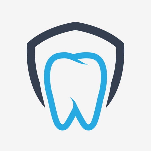 dental care logo tooth in shield vector teeth protection