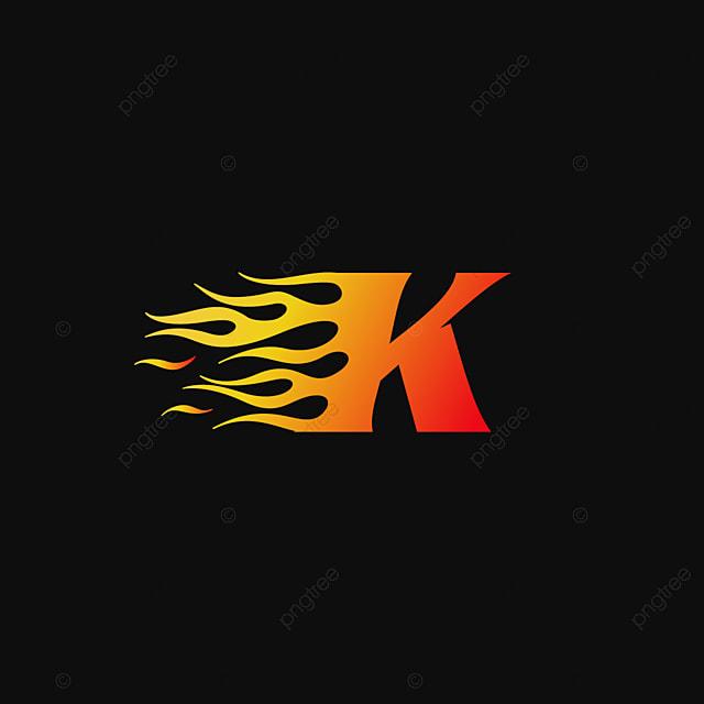 pngtreeにレターkバーニング炎ロゴデザインテンプレートテンプレートの