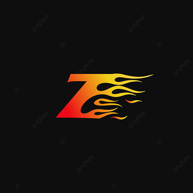 letter z burning flame logo design template Template for Free ...