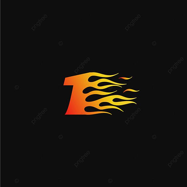 pngtreeにナンバー1燃焼炎のロゴデザインテンプレートテンプレートの無料