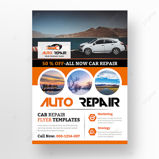 auto repair flyer template for free download on pngtree