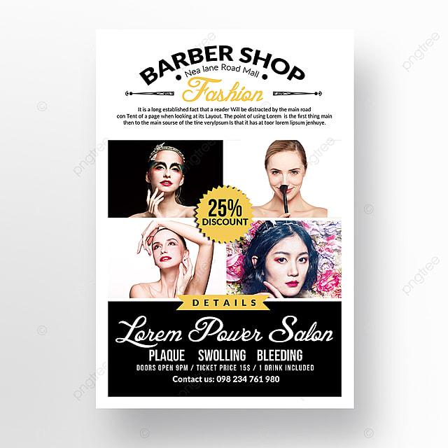 barber shop flyer template for free download on pngtree