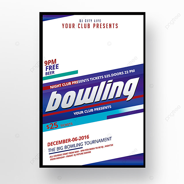 Bowling Flyer Template For Free Download On Pngtree