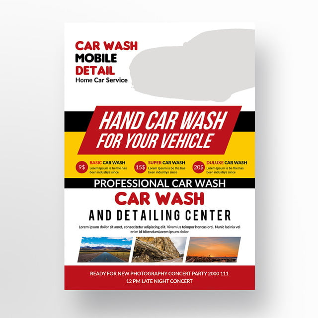 Car Wash Flyer Templates Template