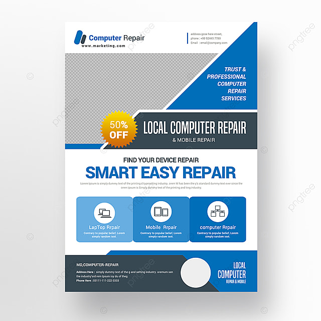 Computer Repair Flyer Template | Computer Repair Flyer Template For Free Download On Pngtree